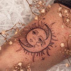 Tattoo L, Sun Tattoos, Dainty Tattoos, Dope Tattoos, Pretty Tattoos, Unique Tattoos, Beautiful Tattoos, Body Art Tattoos, Tattoo Drawings