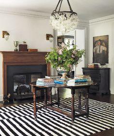 Custom chandelier from #Tobi Tobin | Hampton Cottages & Gardens