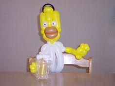 Homer Simpson balloon Simpsons balloon #balloon Homer #balloon Simpsons art #balloon Simpson characters #balloon Marge Simpson  #balloon Simpson sculptures #balloon Marge Simpson #balloon Bart Simpson #balloon Simpson party #balloon Lisa Simpson #balloon Maggie Simpson
