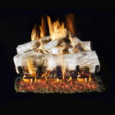 Peterson Real Fyre White Mountain Birch See-Thru Gas Log Set With Vented Propane Burner - Manual Safety Pilot : BBQGuys Fireplace Tool Set, Gas Fireplace Logs, Black Fireplace, Fireplace Ideas, Gas Fireplaces, Ventless Gas Logs, Electric Fireplaces, Mantle Ideas, Fireplace Inserts