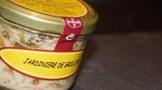 Jardinière de Grillons   Terrines Légumes-Insectes  Insectes incorporés : Acheta Domestica, Grillons domestiques (4%)  Disponible sur la boutique en ligne diminicricket.com