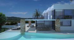 Precio - 3.400.000 €  Villa moderna de 488 mt2 en la exclusiva urbanización Can Rimbau a 5 minutos de la ciudad de Ibiza y del puerto de Botafoch. Ofrece vistas panorámicas de 270 º al mar, la ciudad de Ibiza, el campo y Formentera. La urbanización cuenta con seguridad las 24