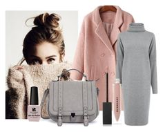 """Pink+Grey"" by dara-average ❤ liked on Polyvore featuring Warehouse, Victoria's Secret and Burberry"