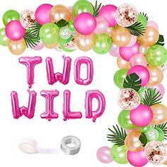 Animal Themed Birthday Party, 2nd Birthday Party For Girl, Jungle Theme Birthday, Second Birthday Ideas, Girl Birthday Decorations, Girl Birthday Themes, Kylie Birthday, Jungle Theme Parties, Balloon Garland