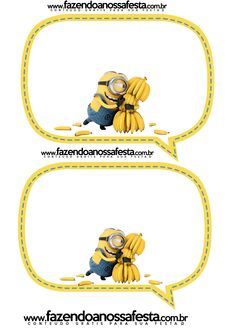 Plaquinhas Divertidas dos Minions: