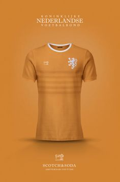 National Football kits reimagined with Local Brand sponsorship by Emilio Sansolini - Netherlands x Scotch & Soda Football Kits, Football Jerseys, Retro Football, Best Shirt Brands, Hugo Boss, Camisa Nike, Fred Perry Shirt, Football Fashion, Soccer Skills