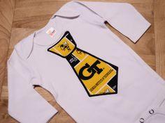 Georgia Tech Appliqued Tie Onesie Bodysuit by designsbysusan1, $14.99