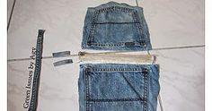 Jeans Carrying Pouch If you like that pouch you can make such one using your old jeans. You can just cut them and attach zippers. T...