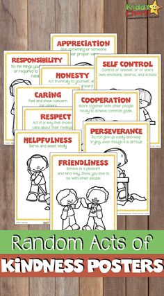 Acts of kindness posters to help kinds understand what kindness actually means Kindness For Kids, Random Acts Of Kindness Ideas For School, Kindness Projects, Character Education, Parenting Advice, Parenting Styles, School Days, Classroom Management, Teaching Kids