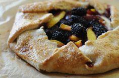 blackberry nectarine galette