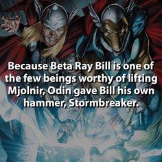 Stormbreaker or Mjlonir?  #betaraybill #thor #marvel by marvelousfacts