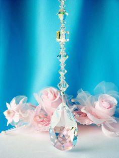 Ceiling Fan Pull Chain Swarovski Crystal by CrystalBlueDesigns