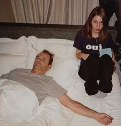 bill and sofia, on the set of 'lost in translation'