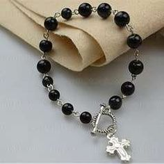 Beaded Bracelets Tutorial How To Make Rosary Bracelet With Eyepins