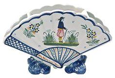 Antique Quimper Flower Vase on OneKingsLane.com