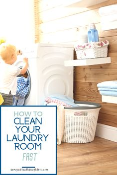 The Fastest Way To Clean Your Laundry Room. Besides doing laundry you need to make sure your laundry room is clean! Find out how to clean your laundry room fast. Dog Cleaning, Apartment Cleaning, Speed Cleaning, Homemade Cleaning Products, Cleaning Hacks, Cleaning Solutions, Doing Laundry, Laundry Room, Diy Cleaners