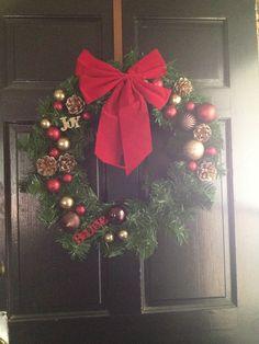 DIY Christmas wreath!!