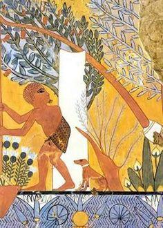 Basenji dog in Ancient Egypt.