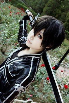 Kirito- Sword Art Online Cosplay - COSPLAY IS BAEEE!!! Tap the pin now to grab yourself some BAE Cosplay leggings and shirts! From super hero fitness leggings, super hero fitness shirts, and so much more that wil make you say YASSS!!!