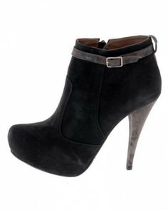 Christian Cole Leather Strap Embellished Booties Europe