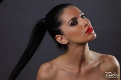 Stunning young Romanian Model Bianca Goga - makeup