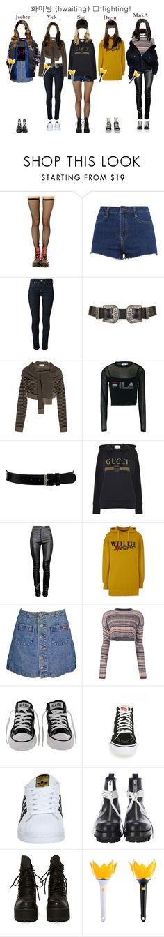 """""""Going To D:FI's Concert"""" by starz-official ❤ liked on Polyvore featuring ZALORA, RED Valentino, Topshop, Isa Arfen, Fila, Black & Brown London, Gucci, Thierry Mugler, Conflict of Ego and Mark Fast"""