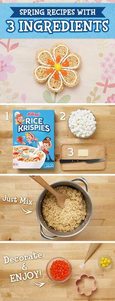 You waited months for #Spring – now here's a #simple treat #recipe that's ready in minutes! Just combine Rice Krispies, marshmallows, and butter with your kids imagination and watch these beautiful treats blossom. #RiceKrispiesTreats #Flowers #Seasonal