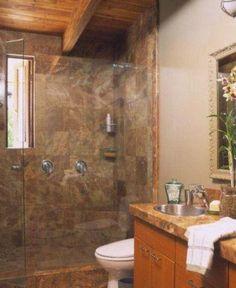 slate tile, wood ceilings, wall color