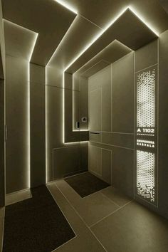 1102 luxury penthouse in India Entrance Design, Door Design, Wall Design, House Design, Entrance Foyer, Corporate Interiors, Office Interiors, Futuristic Interior, Luxury Penthouse