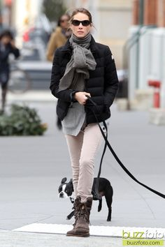 Christy Turlington and Boston Terrier friend, bostons are always in fashion.