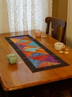 Quilted Table Runner  Handmade Quilt  Homemade by MyBitOfWonder