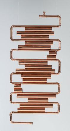CALIDARIUM - radiator; Design: Laura Sonzogni; Produzione: Estro. Made from copper tube.