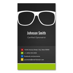 Certified Optometrist Optical Creative Innovative Double-Sided Standard Business Cards (Pack Of 100). This great business card design is available for customization. All text style, colors, sizes can be modified to fit your needs. Just click the image to learn more!