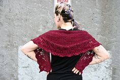 A lovely lace crescent shawl worked bottom up with short rows using the amazing Sweet Fiber Cashmerino Worsted. You can buy the yarn over here at the website www.sweetfiber.com