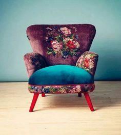 Sessel Gobelin design inspiration on Fab. Funky Furniture, Home Furniture, Furniture Design, Vintage Furniture, Chair Design, Furniture Ideas, Furniture Inspiration, Floral Furniture, Bedroom Furniture