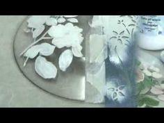 ▶ Video corso.Piatto romantico con tecniche decorative miste. Progetto di Letizia Barbieri - YouTube