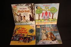 Lot of Four Disney Read A Long Books No Tapes The Best of Disney Jungle Book