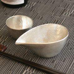NOUSAKU Tin 100% Sake set (Katakuchi 180ml, Guinomi Choko 78ml)