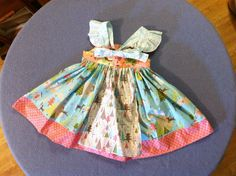 Custom Listing Flutter Sleeve Apron Knot Dress Very Versatile, Front or Back Tie 6 Months 12 Months 18 Months 24 Months 2T 3T 4T 5T 6