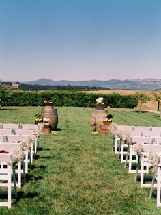 A breathtaking ceremony setting. Photography by trentbailey.com / Floral Design by juliestevensdesign.com