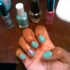My nails I dis with those polishes!