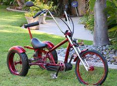 Trike by J. Bicycle Cart, Trike Bicycle, Lowrider Bicycle, Tricycle Bike, Adult Tricycle, Custom Trikes, Bike Trailer, Custom Cycles, Chopper Bike