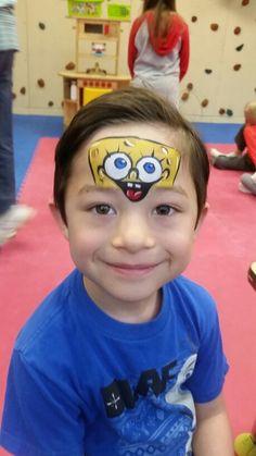 Face painting Cincinnati spongebob