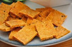 Real Healthy Crackers |  with almond flour, coconut flour, 1 egg and tomato paste