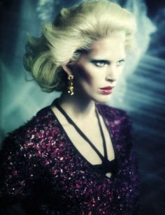 'A Singular Blond Beauty' Iselin Steiro by Paolo Roversi for Vogue Italia December 2012 [Editorial] - Fashion Copious