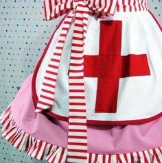 Super cute Red Cross Apron