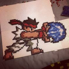 Ryu Street Fighter perler beads  by soniaa000