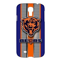 Chicago Bear Style Metal Samsung Galaxy S4 S IV Hardshell Case Cover