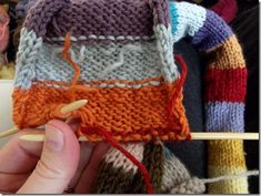 How to knit in the ends as you go