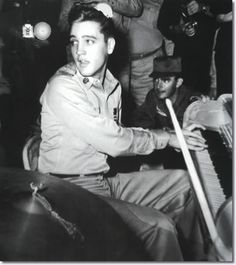 ♡♥During the crossing Elvis and Charlie Hodge became fast friends. They bunked together at Elvis' request and Charlie cheers him up with jokes and tales of show business. Together they are put in charge of a shipboard talent show in which Elvis plays piano in the back up band (at the Colonels explicit instructions, he does not sing) while Charlie is the MC♥♡